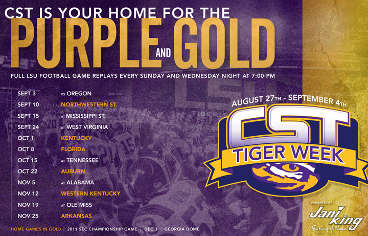 CST Purple and Gold Schedule