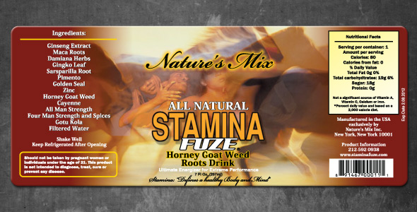 Nature's Mix Stamina Fuze Label