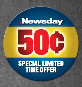 Newsday 50 cents Label