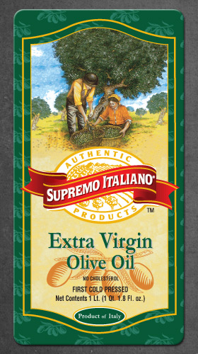 Supremo Italiano EVOO Label